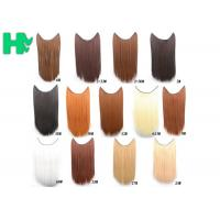 China Tangle Free Natural Synthetic Colored Hair Extensions Clip In with 16 on sale