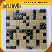 Wholesale Black and Yellow Mosaic Tiles Craft Product  For Hall Wall Decoration from china suppliers
