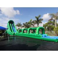 Wholesale 36 Feet Tall Hulk Inflatable Water Slides Green Long Crazy Wet Slide With Pool from china suppliers