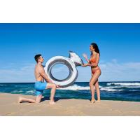 Wholesale Inflatable Giant Diamond Ring Metallic Pool Float Toy Summer Raft Airbed Lounge from china suppliers