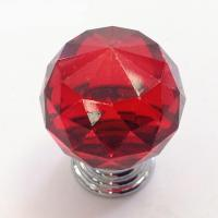 Wholesale Pull Handle Knob Crystal Rhinestone Buttons Red Orange Or Transparent For Furniture from china suppliers