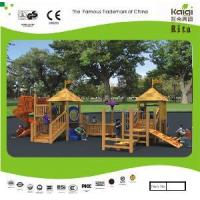 Wholesale Outdoor Wooden Playground (KQ10156A) from china suppliers