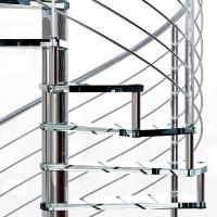 Wholesale Small Space House Used Stainless Steel Glass Spiral Staircase with 12mm Glass Railing from china suppliers