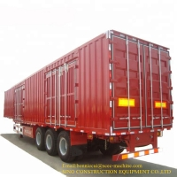China 60T Shipping Container Van Curtain Trailer 12R22.5 Tire on sale