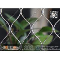 Wholesale SS316 / SS304 1.5mm Stainless Steel Ferrule Rope Mesh with 80X139mm Mesh Opening from china suppliers