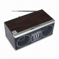 Wholesale SD Card/USB Mobile Phone Speaker with LED Screen, Wooden Box, FM Radio and Remote Control Functions from china suppliers