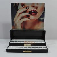 Quality Black Portable Custom Store Fixture , Cosmetic Acrylic Display Rack for sale