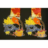 Buy cheap Virtual Racing Or Running 10K Metal Award Medals, Soft Enamel With Glitter from wholesalers