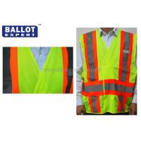 Quality Green Reflective Safety Vest Uniforms Clothing For Construction / Night Riding for sale