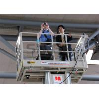 Quality Aluminum Mast Type Self Propelled Aerial Lift 6m For 2 Persons 480KG Capacity for sale
