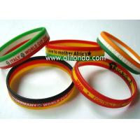 Custom silk print debossed embossed rubber silicone bracelet with logo print engrave ink filled silicone wristband for sale
