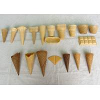 Wholesale Golden Color Ice Cream Waffle Cone , Chocolate Sugar Cones Customized from china suppliers