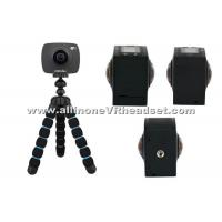 Wholesale Portable HD 360 Virtual Reality Camera , Black 360 Professional Camera from china suppliers