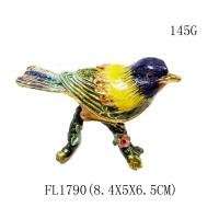 Wholesale jewelry boxes for women small metal trinket box bird trinket jewelry box from china suppliers
