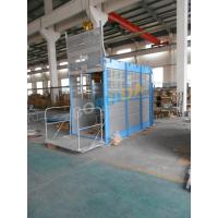 Buy cheap Single / Double Car 1000kg Rack And Pinion Hoists for Construction Material from wholesalers