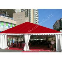 China Clear Span Large Outdoor Tent White PVC Fabric Door Transparent PVC Windows on sale