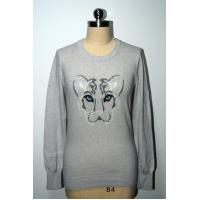 Wholesale Pullover Leopard Pattern Sweater , Women'S Long Sleeve Sweaters 100% Cotton from china suppliers