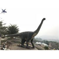 China Robotic Animal Outdoor Statues , Animatronic Brachiosaurus Dinosaur Lawn Statue on sale