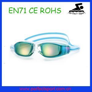 China New Design Mirror Coating Professional Waterproof Swim Goggles on sale