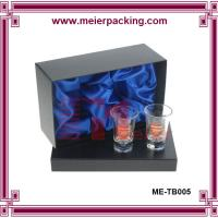 Wholesale Glossy black double glass cups box ME-TB005 from china suppliers