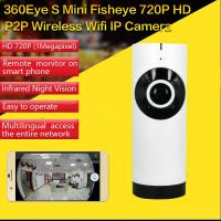 Wholesale EC2 Mini 180° Panorama Camera Wireless WIFI P2P IP Night Vision Home Security Surveillance iOS/Android APP Control from china suppliers