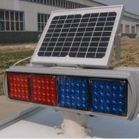 Buy cheap Double Faces Solar Traffic Warning Light , Flashing LED Solar Powered Sign Lights from wholesalers