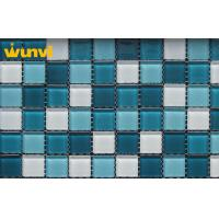 Wholesale 300 × 300mm Blue Crystal Backsplash Glass Mosaic Tile For Swimming Pools from china suppliers