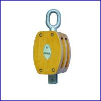 China B133 JIS Wooden Pulley Double With Swivel Eye, Japan Type Double Pulley for sale