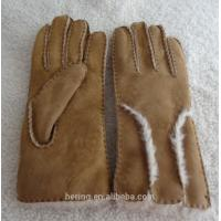Wholesale Genuine leather gloves fur gloves winter double face shearing gloves from china suppliers