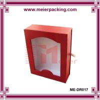 Wholesale Custom paper drawer box with clear window/Paper Apparel Paperboard Box/Red Cardboard Boxes ME-DR017 from china suppliers