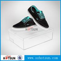 Wholesale Customized color and logo printed acrylic shoe box, Factory Custom Made Clear Storage Shoe Box from china suppliers