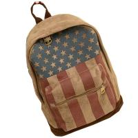 Printed Chamois Leather Kids Sports Backpack  / Travelling Backpacks For Girls