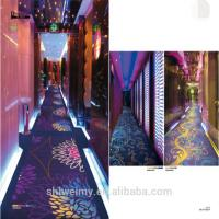 China Nylon material blue color glow cut pile carpet for hallway for sale