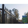 1800mm x 2400mm Hercules Fence/garrison fence / modern fence gate design Black and Blue powder coated for sale