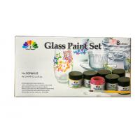 Wholesale Non - Toxic Art Painting Colours 8 Pcs Glass Paint Set 8X15ml 20 Light Fast Colours from china suppliers