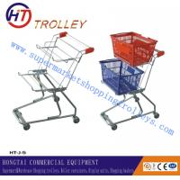 Wholesale Unfolded Steel Wire Basket Shopping Cart  , Supermarket Shopping Trolley from china suppliers