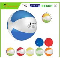 Wholesale Logo Printing Blow Up Beach Balls Customised Color 0.16mm 0.18mm Thickness from china suppliers