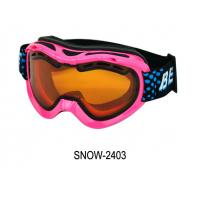 Wholesale Cute Girls Pink Ski Goggles Photochromic with PC Lens , CE FDA Certificated from china suppliers