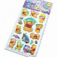 Wholesale Foam and PVC Stickers with Glitter Gold Power, Customized Designs are Accepted from china suppliers