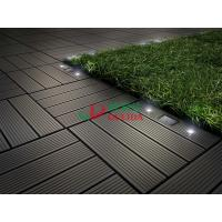 Wholesale Diy Interlocking Composite Deck Tiles Wood Plastic Composite Solar With LED Lights from china suppliers