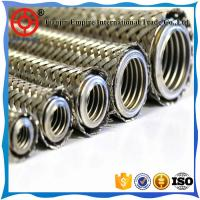 Wholesale 1 1/2 inch qualified manufacture 304 stainless corrugated pipe flexible Metal bellows with braided stainless sleeving from china suppliers