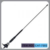 China Truck Rubber Car Antenna With Black Glass Fibre Mast Chrome Zinc Alloy 75Ω on sale