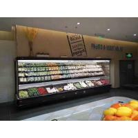 China Fruits Display Commercial Open Display Fridge With Dual Air Curtain And Remote Compressor on sale