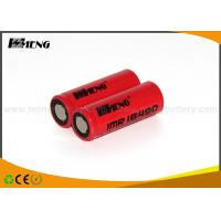 Buy cheap 18490 Red Rechargeable E Cigarette Batteries 1100mah Cylindrical 20a Max from wholesalers
