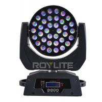 Wholesale RGBW Multi Color LED Wash Moving Head , 36 x 10w Beam Angle 30° Show Pro Lights from china suppliers