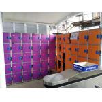 China Plastic Gym Lockers Wtih Master Combination Padlock , 4 Tier Employee Storage Lockers for sale