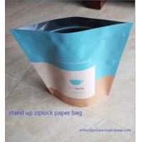 Buy cheap Stand Up Craft Paper Bags With Transparent Window In Front For Dry Food from Wholesalers