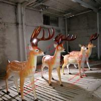 Buy cheap outdoor garden elk sculptures statues of fiberglass nature painting as decoration statues from wholesalers