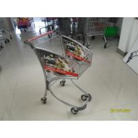 Wholesale 40L Steel Tube Supermarket Shopping Trolley / Airport Shopping Trolley with advertisement board from china suppliers