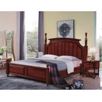 Wholesale Tall headboard $200/set Walnut painting Rubber Wood Bedroom Furniture set in Pine bedboard from china suppliers